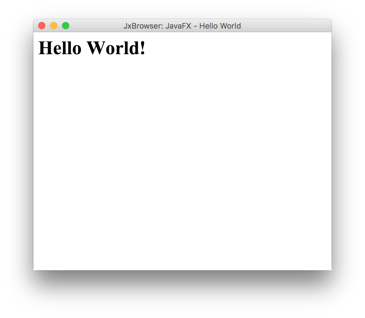 Quick Start Guide for JavaFX Developers : JxBrowser