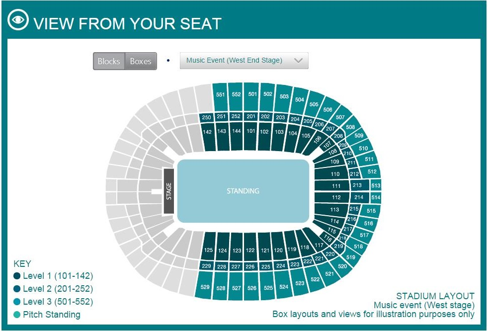 Metlife Stadium Floor Plan: Concert Stadium Seating Layout (including Unreserved