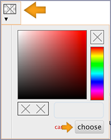 screenshot of the color picker with the choose button highlighted