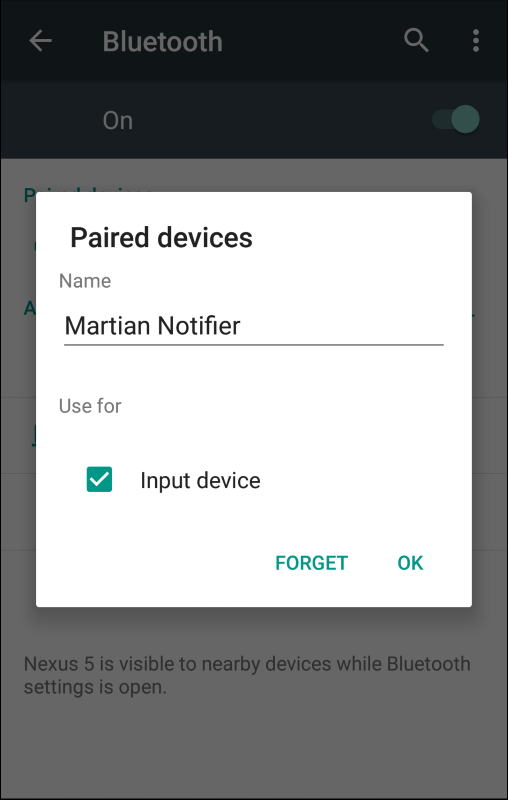 Cannot pair Notifier with my Android phone : Martian Support