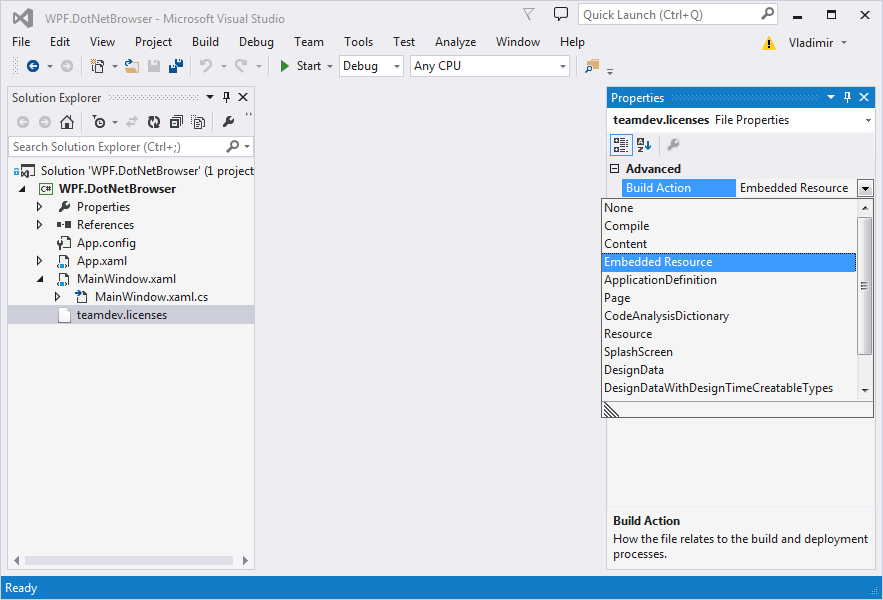 Quick Start Guide for WPF Developers : DotNetBrowser