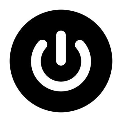 Remote Control Power Button Icon