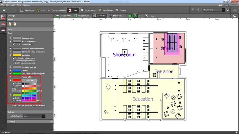 DWG export : Knowledge Base DIALux evo