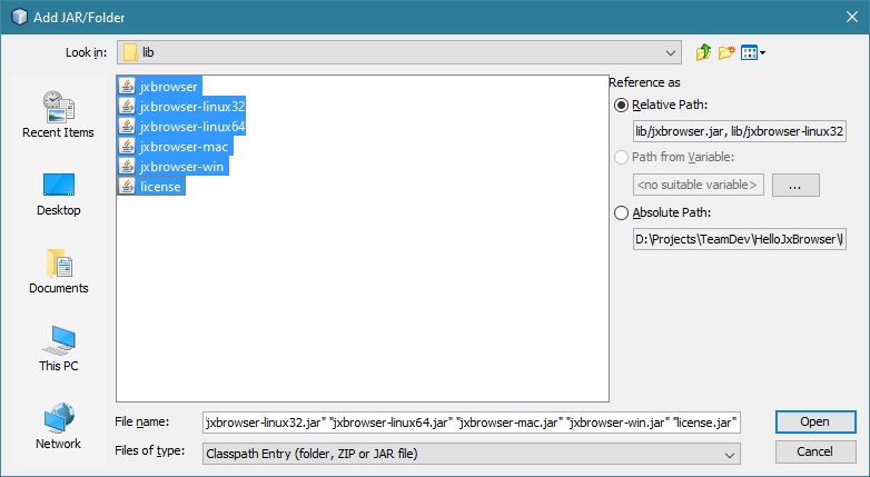 Jxbrowser Example