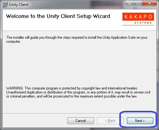 Unity Desktop Installation (Windows) : Customer Support Portal