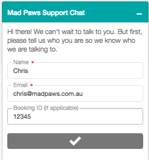 Mad Paws Support Chat
