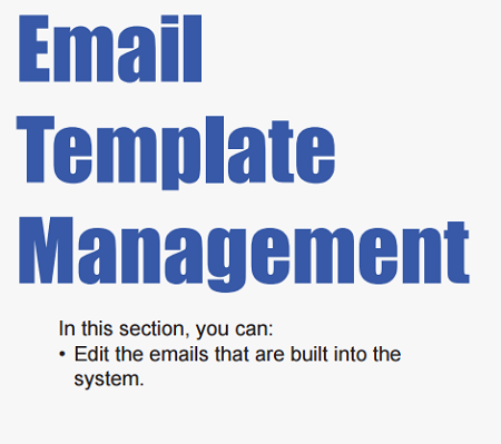 Email Template Management Support Portal - Email template management system