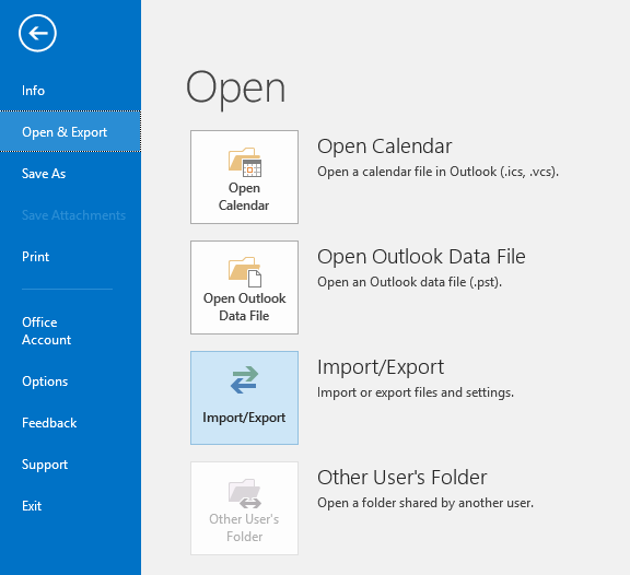 Export Contacts and Calendar Items from Outlook :
