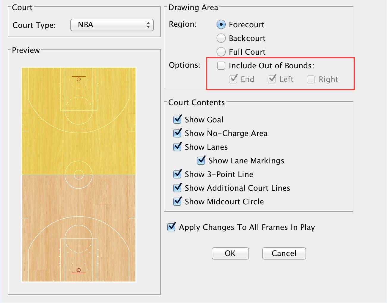 Diagramming a new play or drill fastmodel sports you can also change the court dimensions for any play that youve already created by right clicking on the frame and selecting edit basketball court pooptronica Image collections