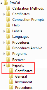 Procal setting and changing report templates calibration where x is the server or use cprocalreportscertificates if the system is local yadclub Gallery
