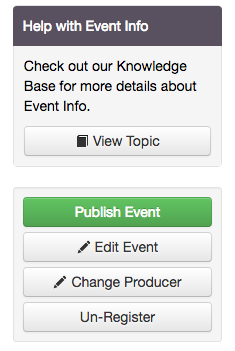 My event is ready to go live in the app, how do I publish it