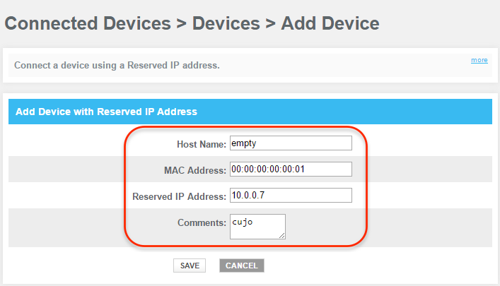 DHCP mode: Xfinity (Comcast) Router : CUJO LLC