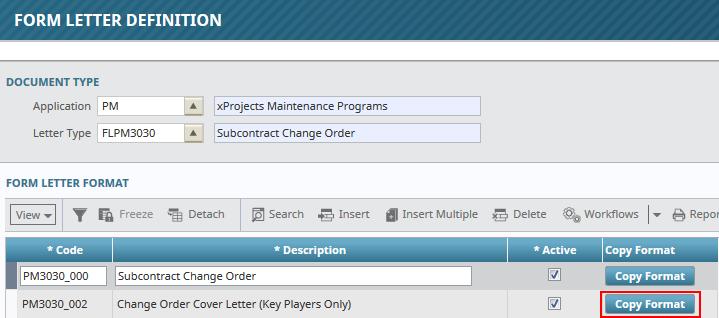 Report Folders (Form Letter Definitions) : CMiC