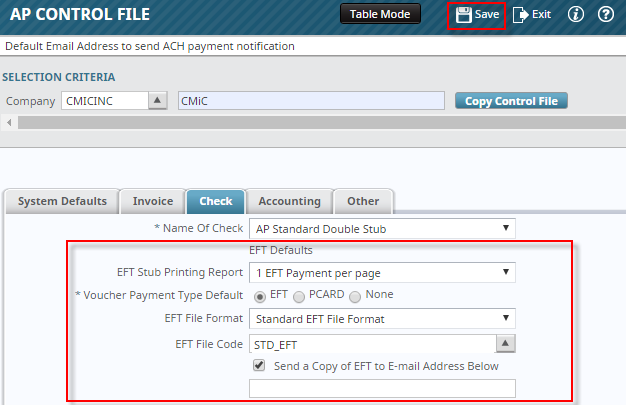 Setting Up Eft Payments Cmic