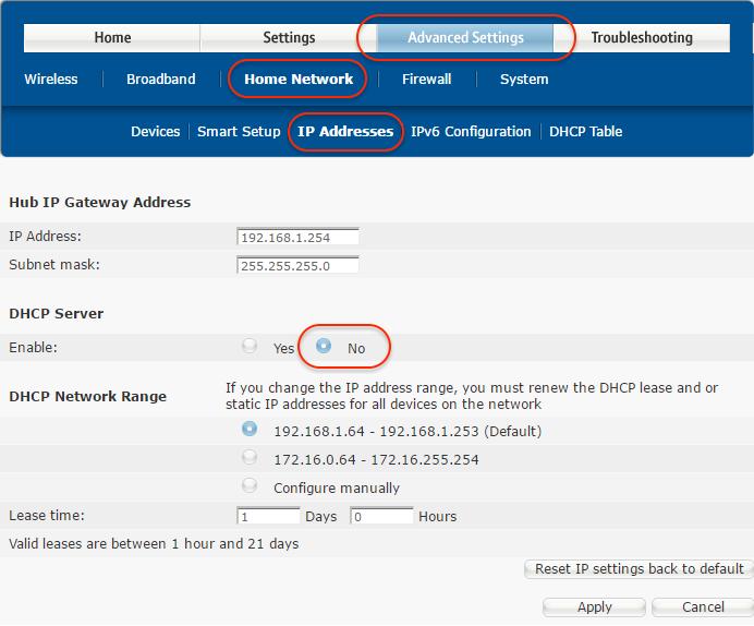 192 168 1  254 bt hub manager