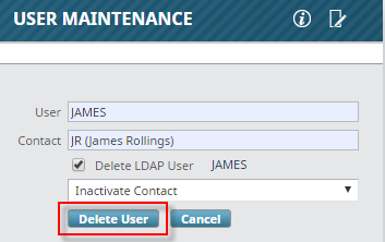 Deleting a User : CMiC