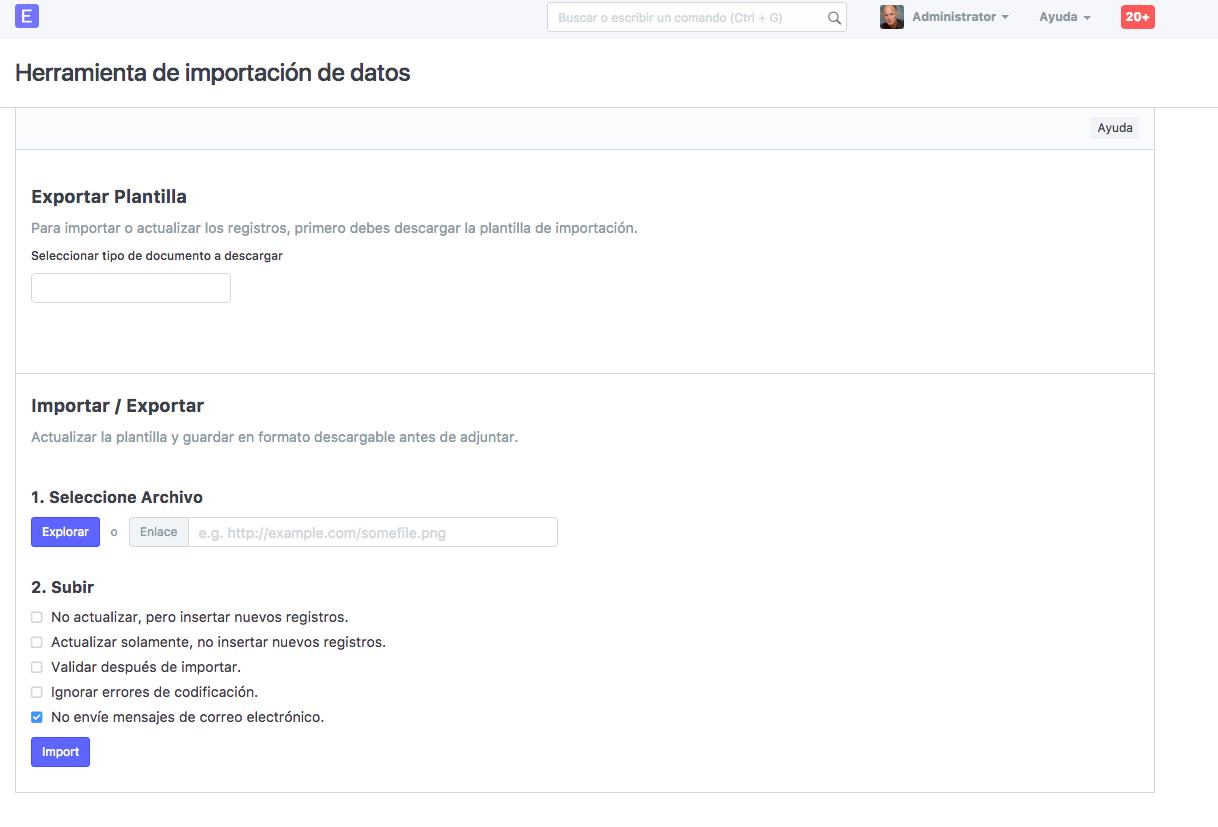 Importación de Datos : Ayuda y soporte Diamo