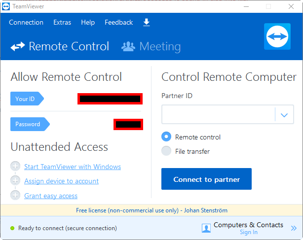 Remote access and administration : DISE Support