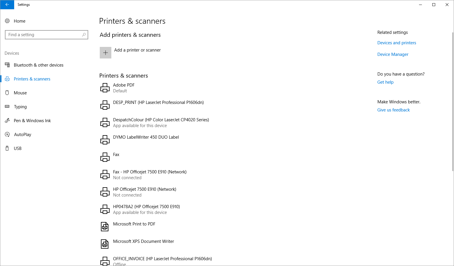 Color printing in windows 10 - Scroll To The Bottom Of This List And Untick The Option Labelled Let Windows Manage My Default Printer