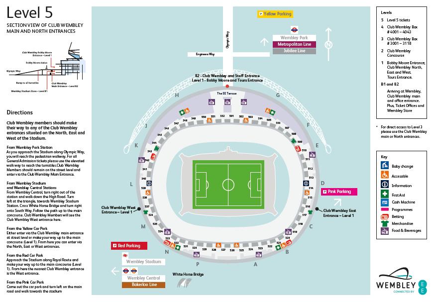 Wembley Stadium Seating Plan Level 5 Nfl Hospitality Vip