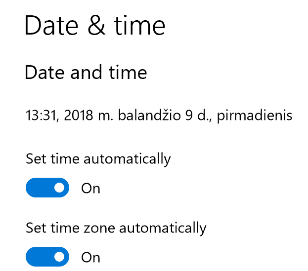 how to set the correct time on my computer