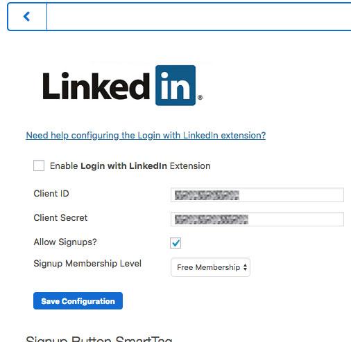 Configuring LinkedIn Login : MemberMouse Support