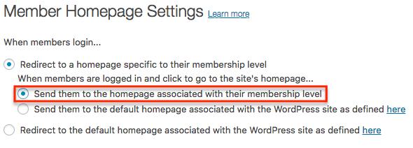 Member Homepage Settings : MemberMouse Support