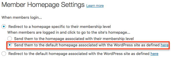 Member Homepage Settings : MemberMouse Support