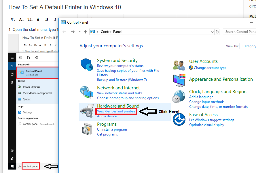 How To Set A Default Printer In Windows 10 : Oakwood