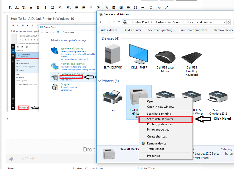 How To Set A Default Printer In Windows 10 : Oakwood University Help