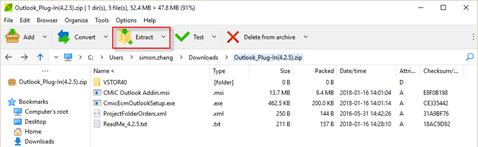 ECM Outlook Plugin : CMiC