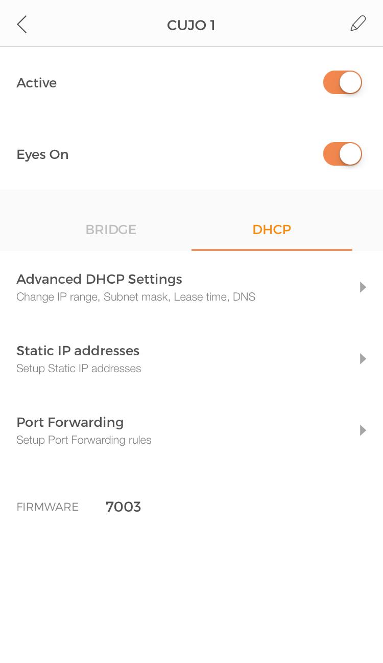 Advanced DHCP and static IP addresses : CUJO LLC