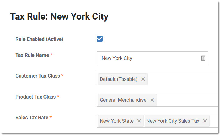 New York State Sales Tax Rate >> Setting Up Sales Taxes
