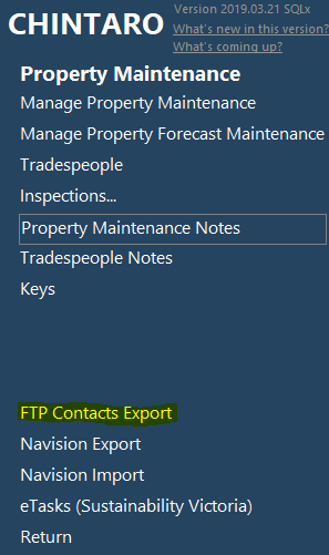 How to set up and run FTP Client Contact Details in Chintaro