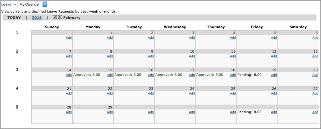 My Leave Calendar