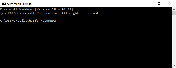 type sfc /scannow in command prompt