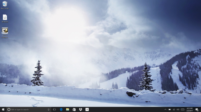 windows 10 home page