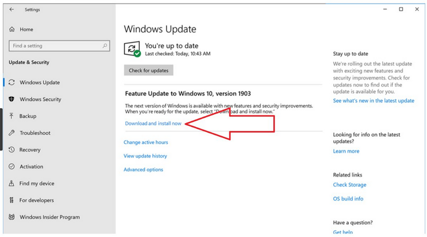 Windows 1903 update : ORIGIN PC Support
