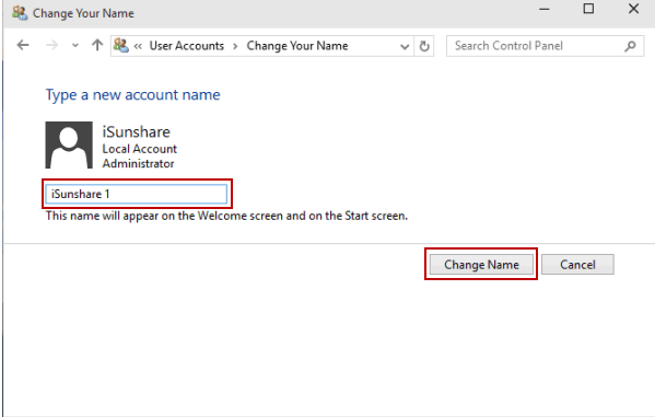 Change Your User Account Name In Windows 10 Origin Pc Support