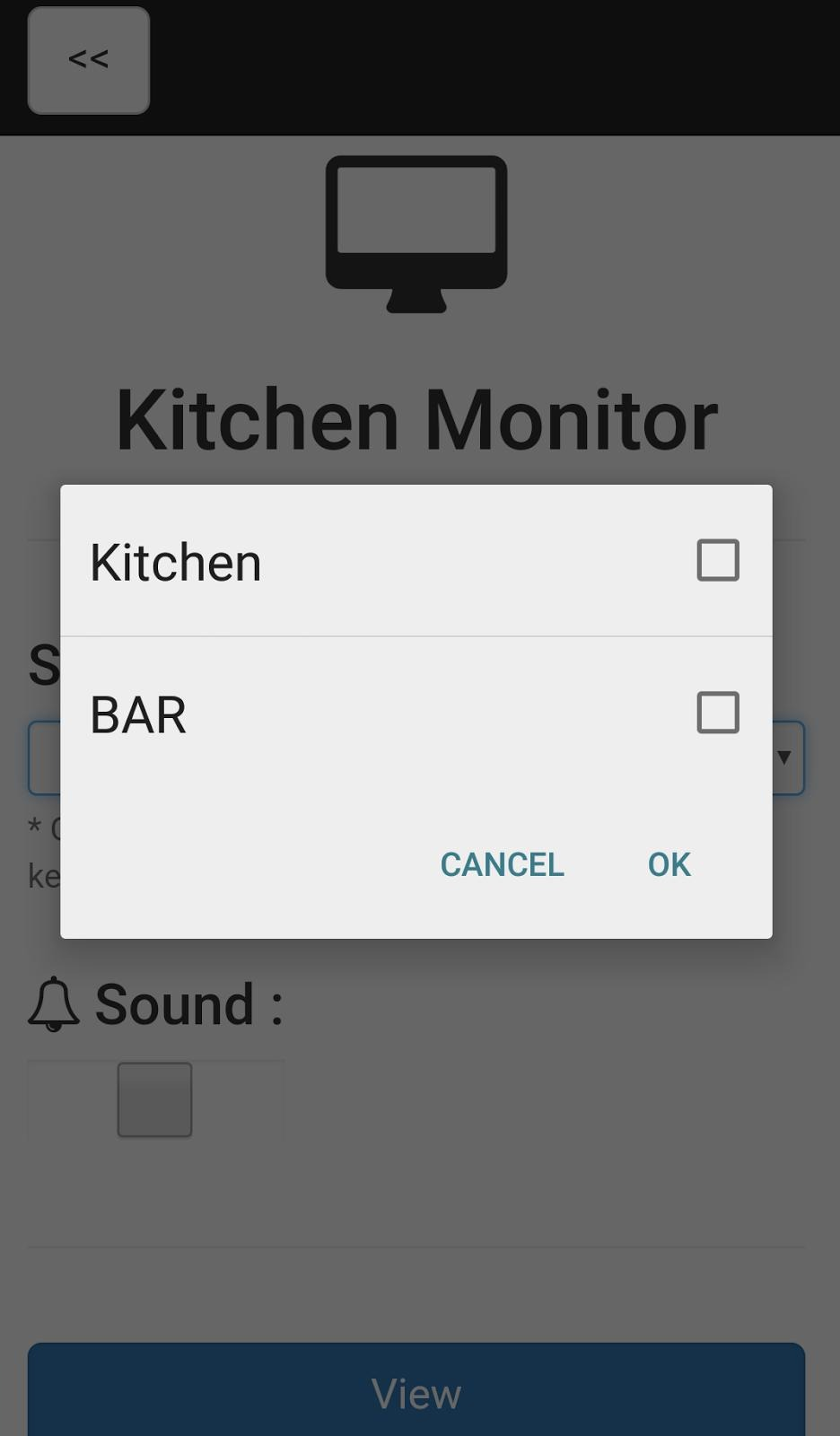 Integrated Kitchen Monitor in Clock POS