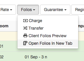 Open folios at new tab
