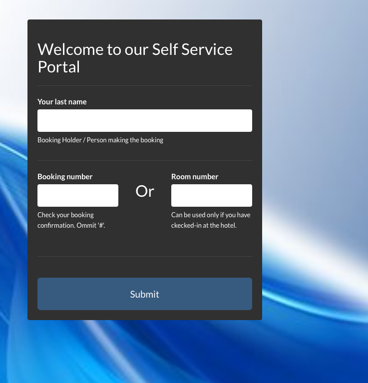 Self Service OTA access