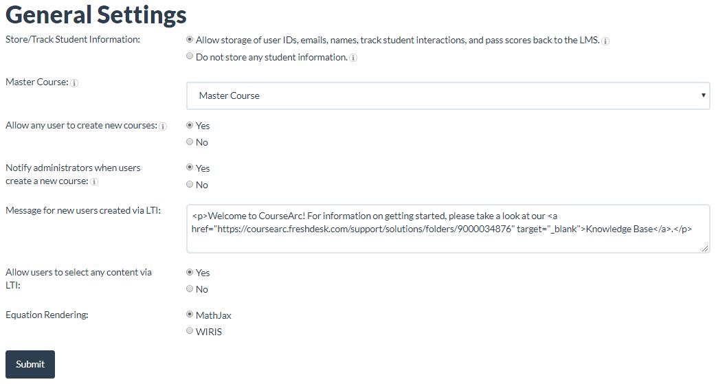 screenshot of grading