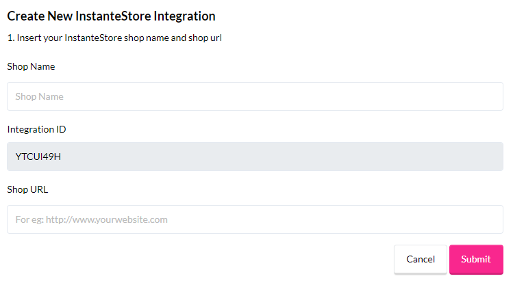 InstanteStore integration (4)