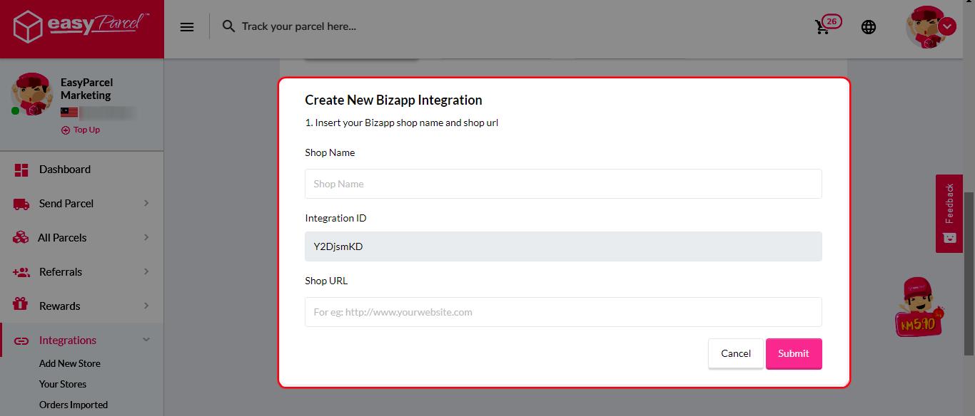 Bizapp integration step 4