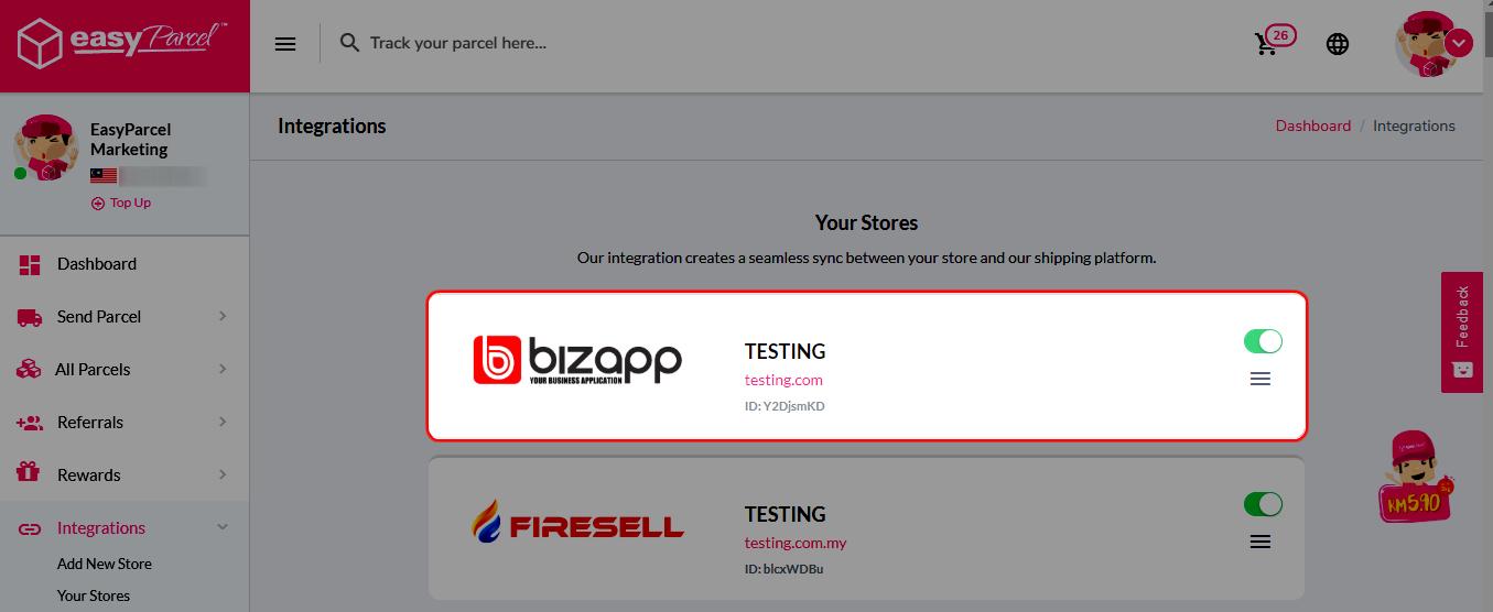 Bizapp integration step 5