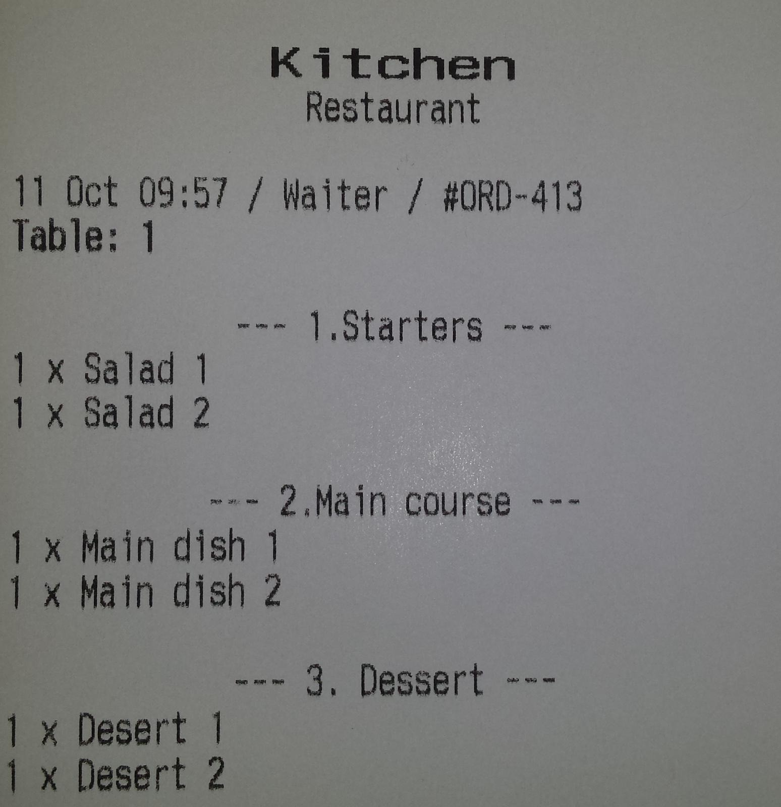 Order groups in Clock POS