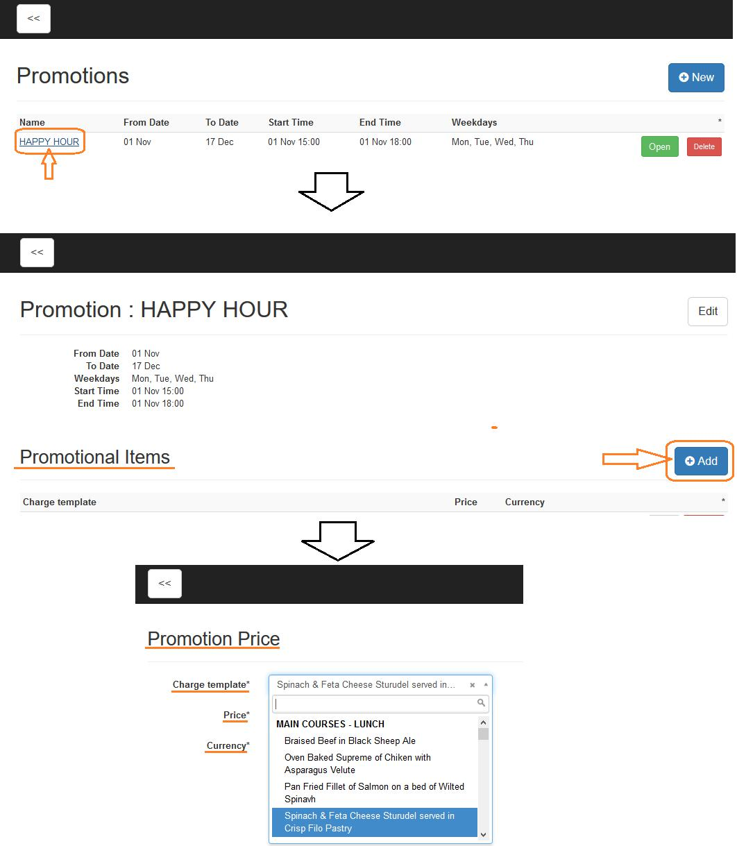 Promotions in Clock POS