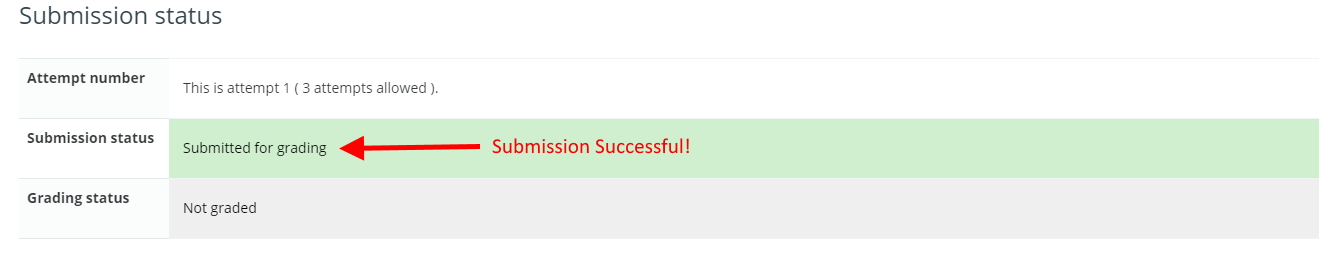 Check submission status