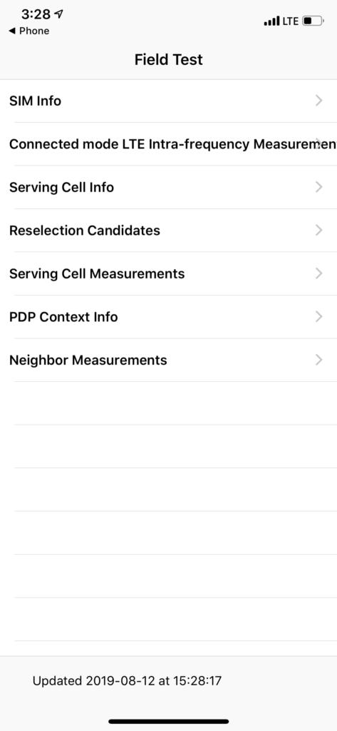 Field test mode iphone X
